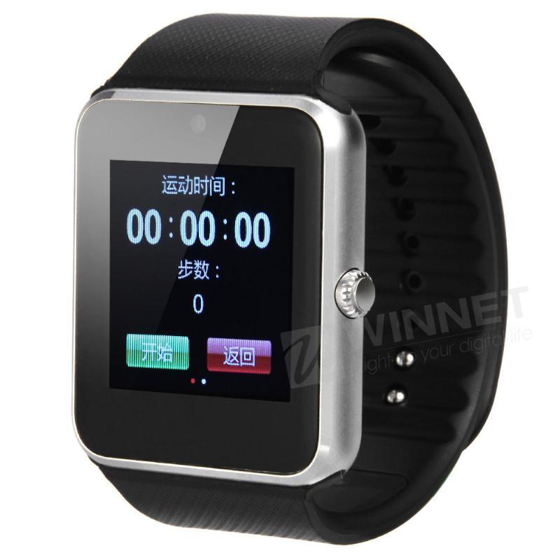 1.54 LCD Bluetooth Smart Wrist Watch NFC for Android Samsung Galaxy S6/S6 Edge gt08 1 54 mtk6260a nfc bluetooth watch hd tft smart wrist strap
