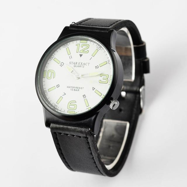 Popular Fashion Luminous Watch Men Watch Leather Strap Men's Watches Sport Watches Male Clock relogio masculino reloj hombre