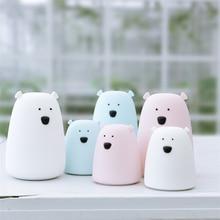 Lámpara de noche de silicona con forma de oso para niños, lámpara de noche infantil, regalo para dormitorio, Chico, juguete reductor de presión
