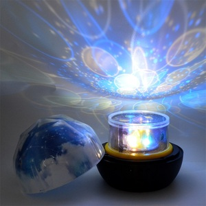 Image 3 - לילה אור רוטרי כדור הארץ קסם של מקרן מנורת LED כדור הארץ יקום צבעוני רוטרי לילה מנורת מתנת חג המולד לתינוק ילד