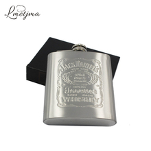 LMETJMA Portable 7oz Stainless Steel hip flask with Box as Gift Whiskey Honest Flask Bottle Mug Wisky Jerry Can K0039
