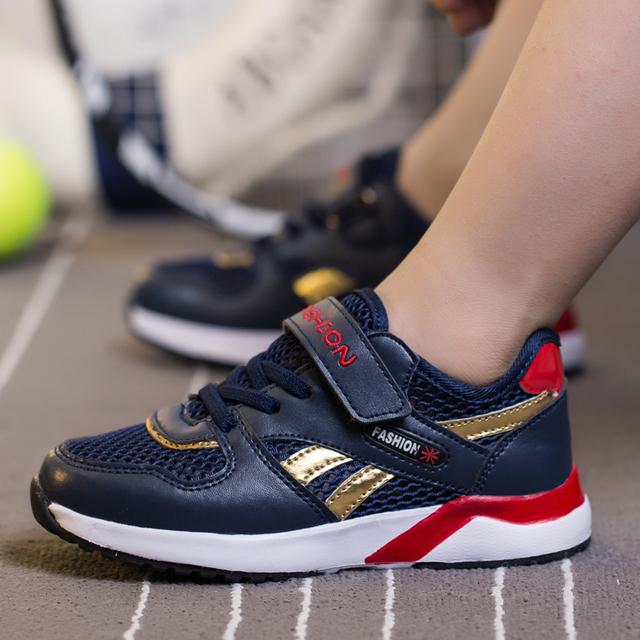 Novo 2017 Malha criança sapatos calçados esportivos Sandálias de Verão Respirável Macio de Alta Qualidade marca runing sapatos das meninas dos meninos das Crianças
