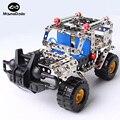 262 pcs Modelo de Plástico Kits Modelo de Metal Puzzle Jeep Carro de Brinquedo Do Bebê Modelos em escala Kit de Construção 3D DIY Kit Brinquedo Crianças Brinquedo Educativo