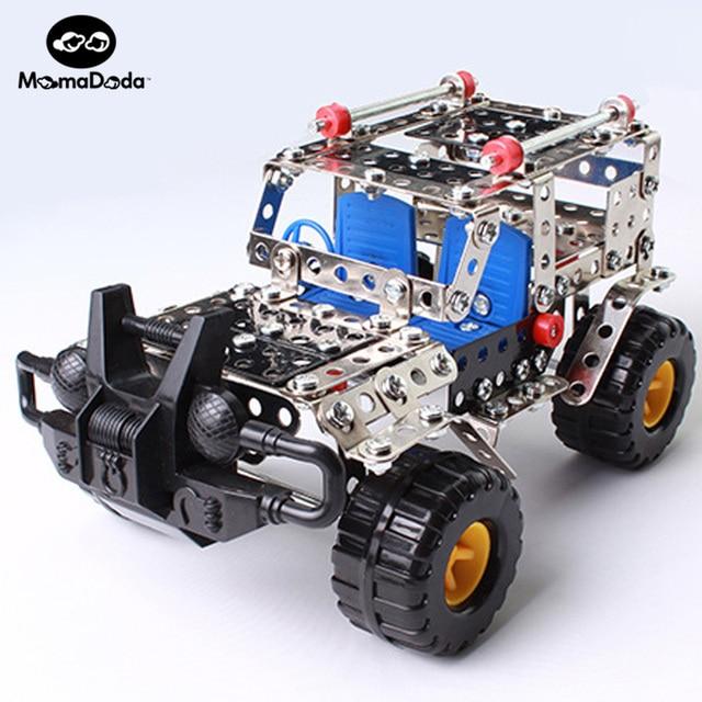 262pcs Plastic Model Kits Metal Model Puzzle Jeep Car Toy Baby Scale