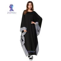 New Arab Elegant Loose Abaya Kaftan Islamic Fashion Muslim Dress Clothing Design Women Black Dubai Abaya