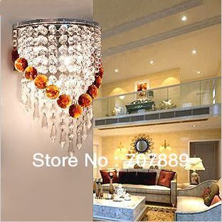 ФОТО Free shipping Dia 20CM 2013 New modern crystal wall lamp,Fashion bedside light WL062,also for Wholesale