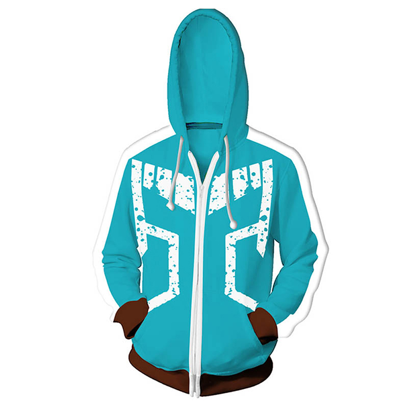 JAYANPOO Japan Anime My Hero academia Midoriya Izuku Cosplay Costumes Sweatshirt zipper Hoodie My Hero Academy Halloween costume