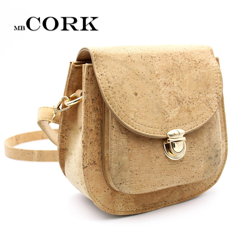daef5b0dcb5c Natural Cork Leather Crossbody Handmade Women Original Small Vegan ...