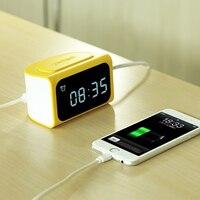 Remax LED Digital NO Clock Timer Alarm 4USB For Mobile Phone Power Adaptor Outlet Charger 100V