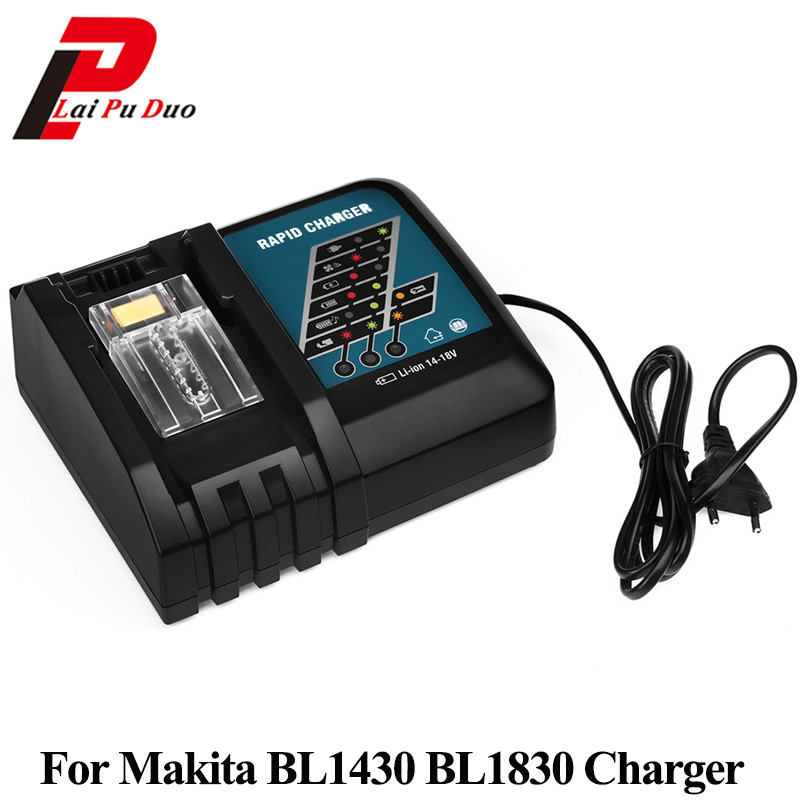 For Makita 7.2V -18V Li-ion Battery Charger Replacement Power Tool Battery Charger For BL1430 BL1830 DC18RA DC18RC 18v 6000mah rechargeable battery built in sony 18650 vtc6 li ion batteries replacement power tool battery for makita bl1860