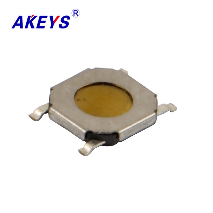 50PCS TS-C004 4*4*0.8 Ultra Thin Square Waterproof Tact Switch 4 Pin SMD/SMT 5.2*5.2 Mini Switch