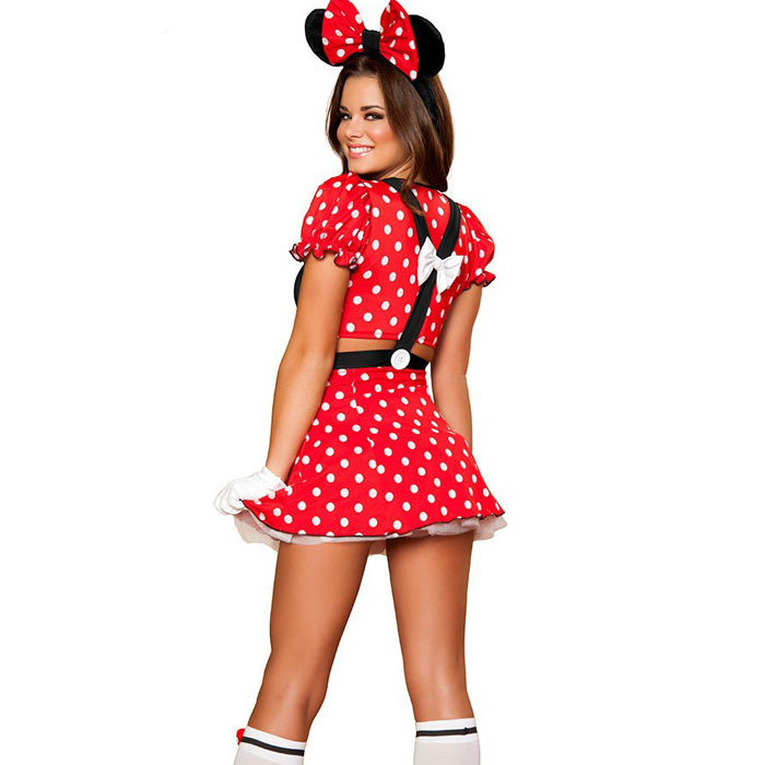 red minnie mouse costumes adults halloween costumes for women party ...