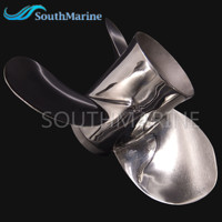 Boat Engine Stainless Steel Propeller 11 3 8x12 G For Yamaha 40HP 50HP Outboard Motor 11