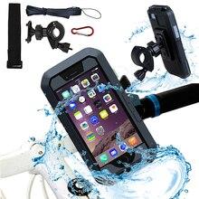 Fiets Motorfiets Telefoon Houder Voor iPhone X 7 8 Plus Waterdichte Telefoon Ondersteuning Voor Moto Stand Bag Bike Cover Mobiele telefoon