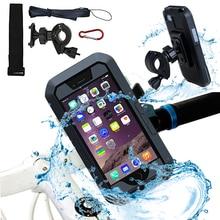 Велосипедный мотоциклетный держатель для телефона для iPhone X 7 8 Plus, водонепроницаемая телефонная поддержка, подставка для Moto, сумка для велосипеда, чехол для мобильного телефона