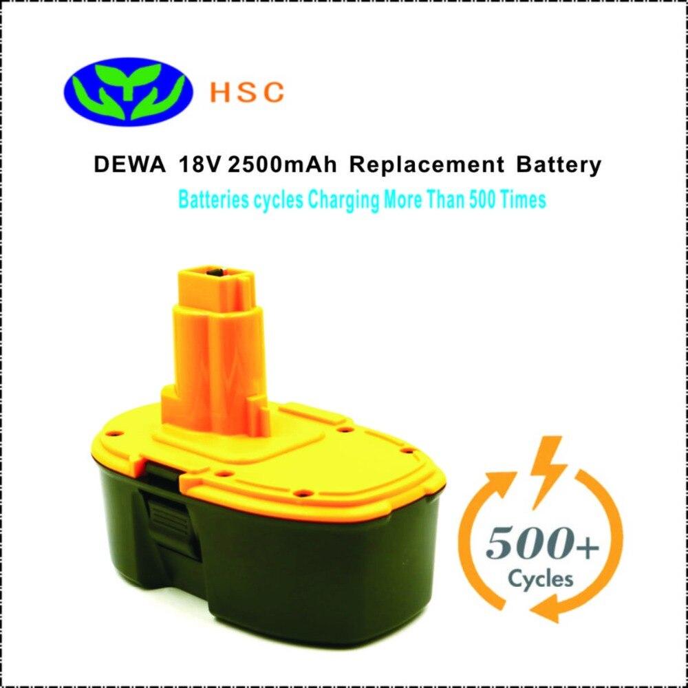 2500mAh rechargeable battery DEW18A NiMh Battery 18V Replacement for DEWALT DC9096 DE9039 DE9098 DW9096 DW9095 Battery