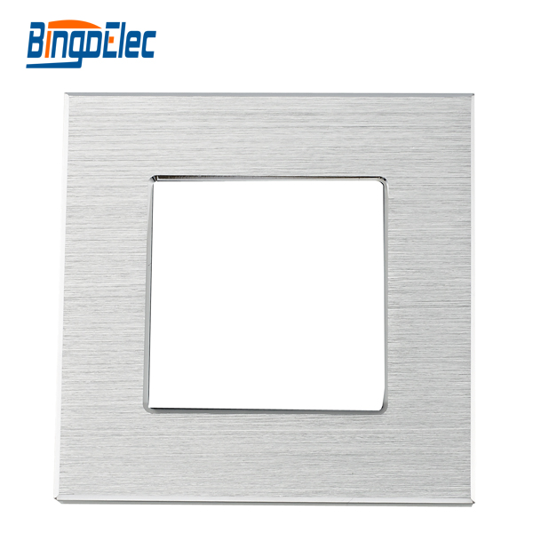 Three color 86*86mm single aluminum frame for socket part,CE mark,Three color 86*86mm single aluminum frame for socket part,CE mark,
