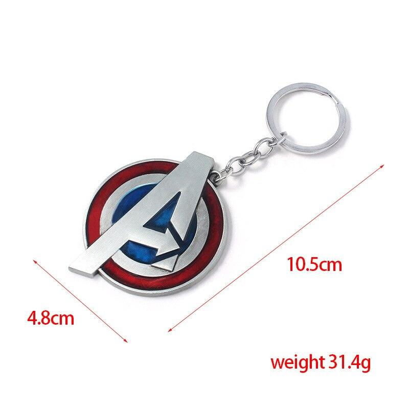 Модный брелок Мстители письмо Капитан Америка кулон Щит металлический брелок Porte Clef автомобильный брелок ювелирные изделия для мужчин подарки