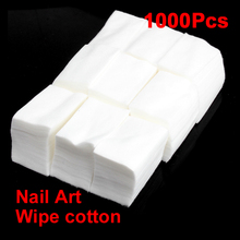 1000 Nail Art Tips Manicure Polish Remover Clean Wipes Cotton Lint Pads Paper Top Quality