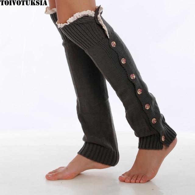 Toivotuksia Crochet Edges Leg Warmers Boot Socks Gaiters Knit Leg