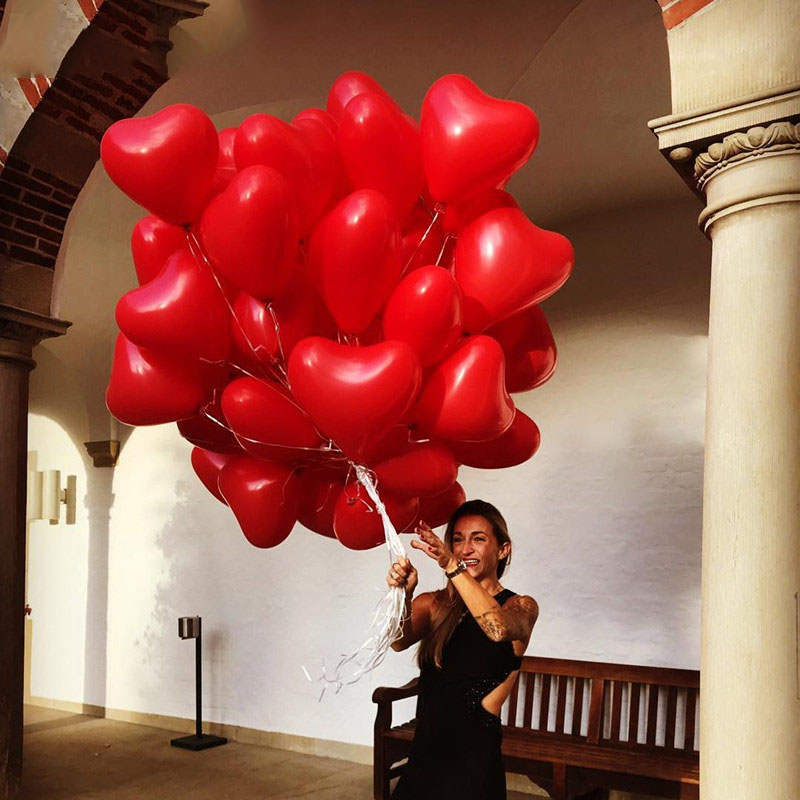 15pcs Romantic 10 Inch Love Heart Latex Helium Balloons Wedding Decoration Globos Valentines Day Happy Birthday Party Ballon