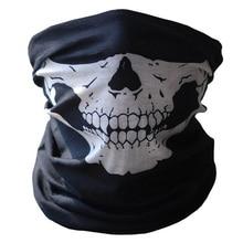 Halloween Skull Skeleton Outdoor Motorcycle Bicycle Multi function Headwear Hat Scarf Half Face Mask Cap Neck Warmer Ghost Scarf