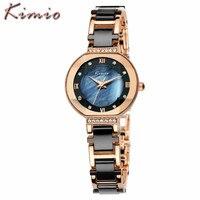 Relojes Mujer 2016 Fashion Women Brand Watches Luxury Ladies Imitation Ceramic Bracelet Quartz Watch Waterproof Relogio