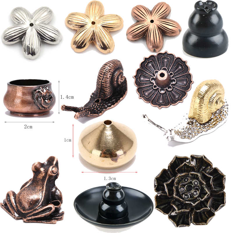 Lotus Flower Snail  Frog Elephant Waterdrop Tortoise Lion Ants Shape Incense  Incense Burner Stick Holder Incense Base Plug