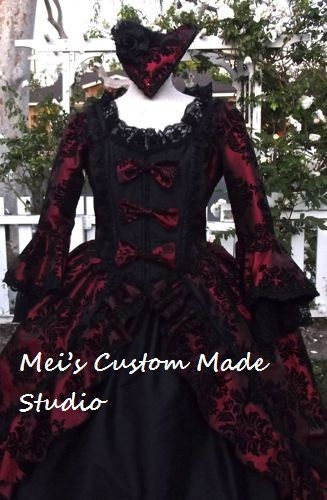 Custom Made 18th century Taffeta Victorian Bustle Wedding