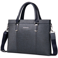 SAENNPOLO Classic Business Man Briefcase Luxury Brand Computer Laptop Shoulder Bag Leather Men S Handbag Messenger