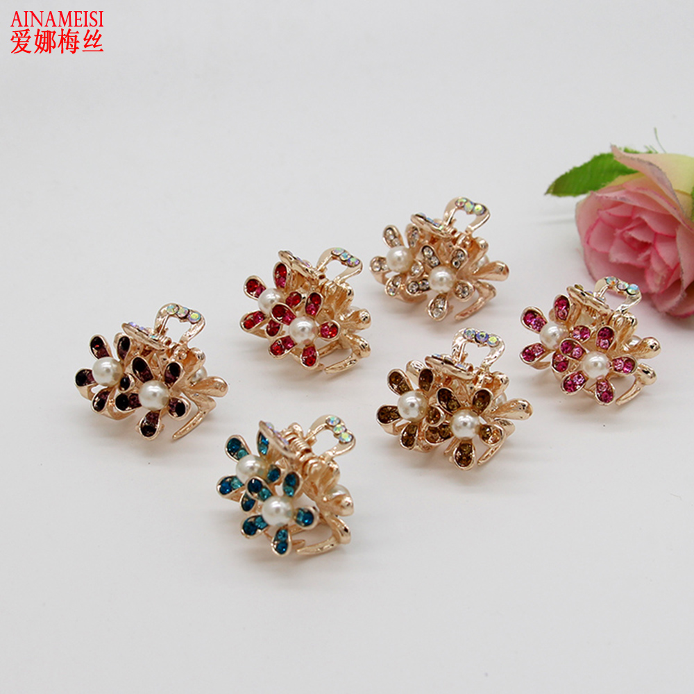 High Quality Fashion Rhinestone Flower Hair Claw Ornaments