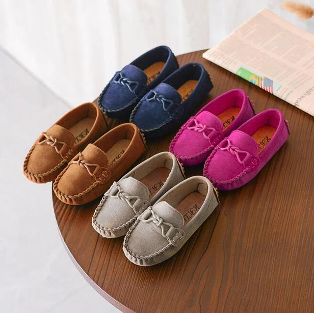 Size 21-35 Baby Toddler Shoes 2019 Spring Summer Children Soft PU Leather Casual Shoes Boys Loafers Girls Moccasins Shoes 1