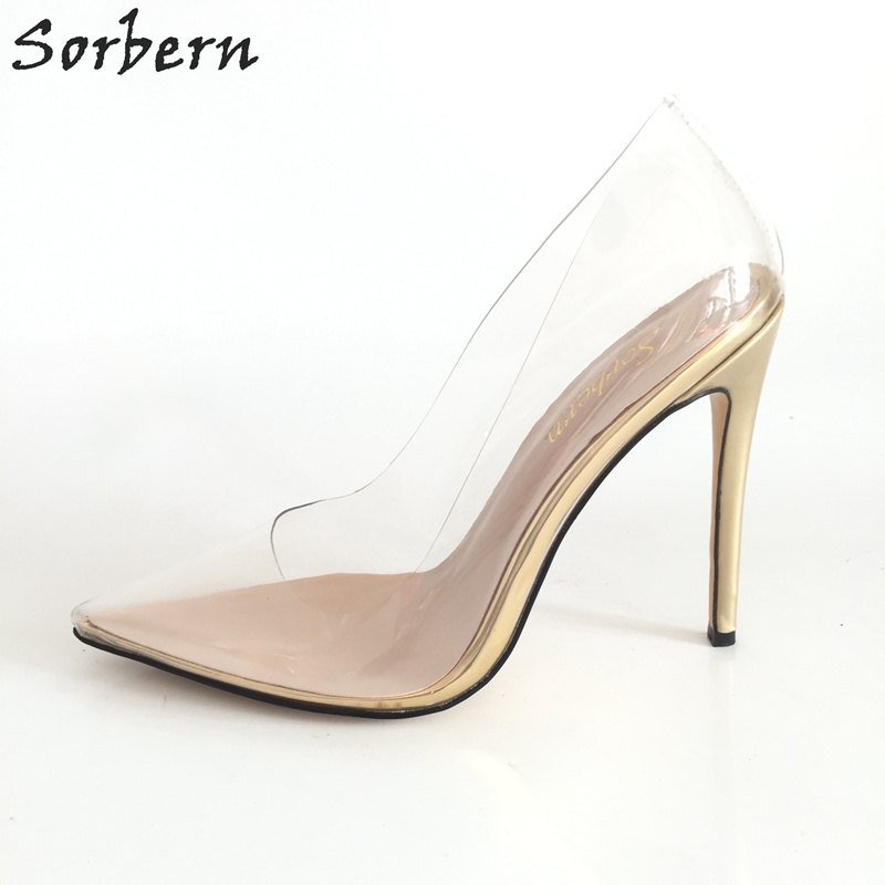 Fashion PVC Women Pumps High Thin Heels Pointed Toe Sexy Bridal Wedding Shoes Plus Size Custom Color Ladies Pumps Zapatos Mujer women high heels plus size 32 42 sexy office pointed toe wedges shoes slip on women pumps fashion mixed color ladies shoes