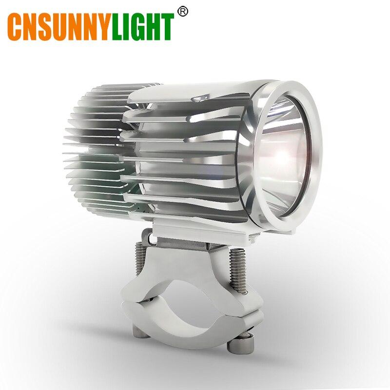 CNSUNNYLIGHT Moto LED Phare Projecteur 18 W 2700Lm Super Lumineux Blanc Moto Brouillard DRL Projecteur Chasse Conduite Spot Lumières