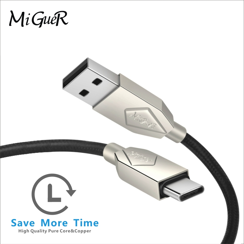 USB cable 2.4A nylon cable charging mobile phone USB cable fast charging Android IOS TYPe-C mobile phone charger Micro USB cable