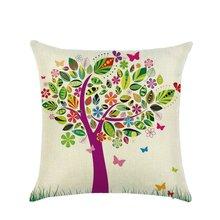 22 Style Unique Retro Cotton Linen Square Pillow Sofa Waist Throw Cushion Decors Home Sofa Decor