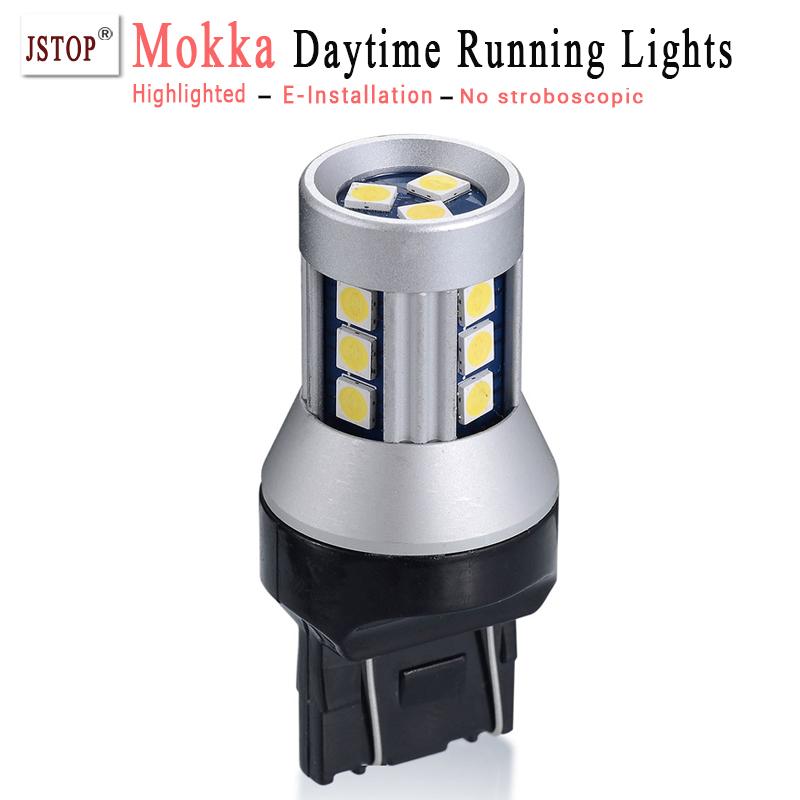 Mokka led car Daytime Running Light Super bright 7443 Canbus bulbs 12V T20 daytime light W21/5W auto External Lights daylighting clrlife professional automatic hair curler steam hair curling iron heating hair styling tools hair care styler wand eu us plug