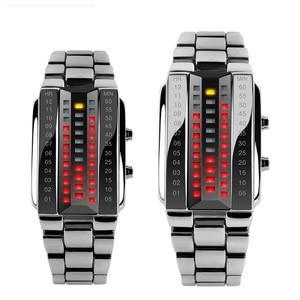 Image 1 - SKMEI Men Women Lovers Sport Digital Watch Fashion Couple Clock Watches Top Brand Luxury Alloy Strap Man Woman reloj hombre 1013