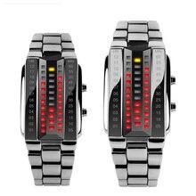 Skmei男性女性愛好家のスポーツデジタル腕時計ファッションカップル時計腕時計トップブランドの高級合金ストラップ男性女性リロイhombre 1013