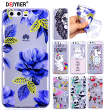 Desyner Soft TPU Case For Huawei P10 Lite Plus Case For Huawei P9 / P9 Lite Unicorn Panda Flowers Silicone Case