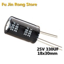 free shipping 200pcs 220uF 25V 105C Radial Electrolytic Capacitor 6.3*12MM