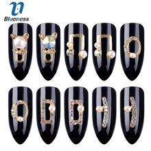 Blueness 10 шт./лот кошачий круглый дизайн ногтей 3D Стразы украшения для ногтей металлические шпильки для маникюра Гель-лак аксессуары