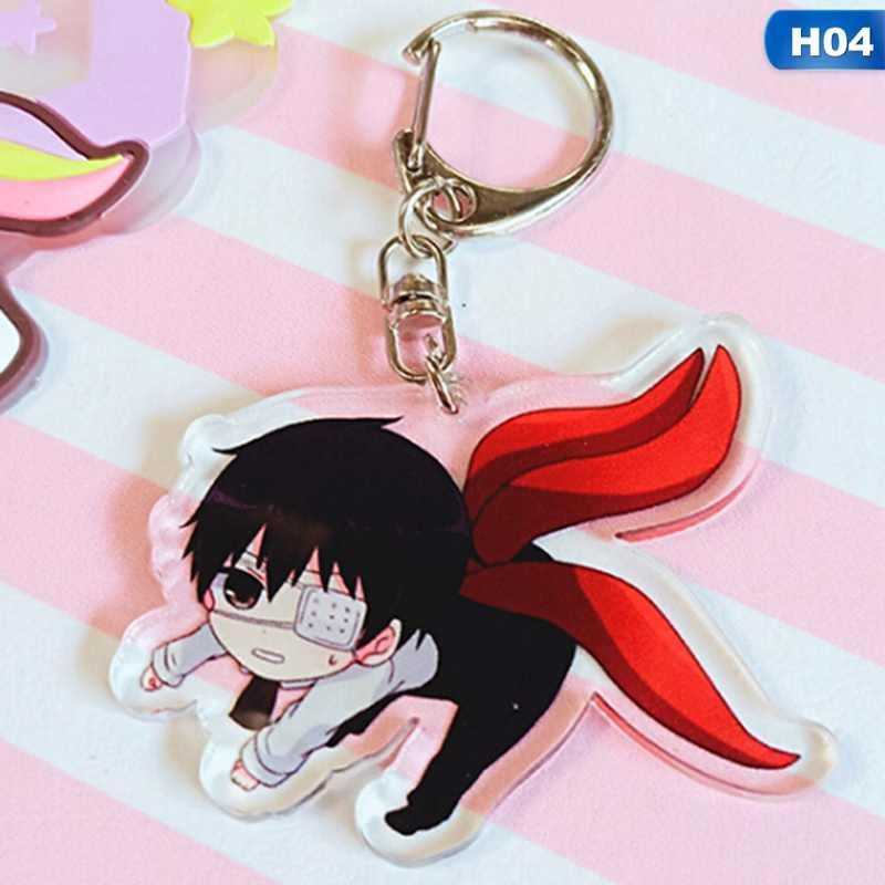 2019 Tokyo Ghoul RE Keychain QS Sasaki Haise Double Sided Acrylic Key Chain  Pendant Anime Accessories Cartoon Key Ring
