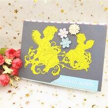 AZSG Angels child Cutting Dies for DIY Scrapbooking die Decoretive Embossing Stencial Decoative Card cutter