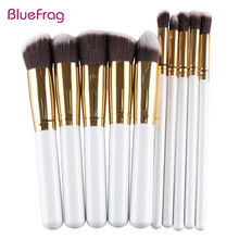 BLUEFRAG Makeup Brushes 10 Pcs Superior Professional Soft Cosmetics Make Up Brush Set Kabuki Brush kit Makeup Brushes BLMB09215