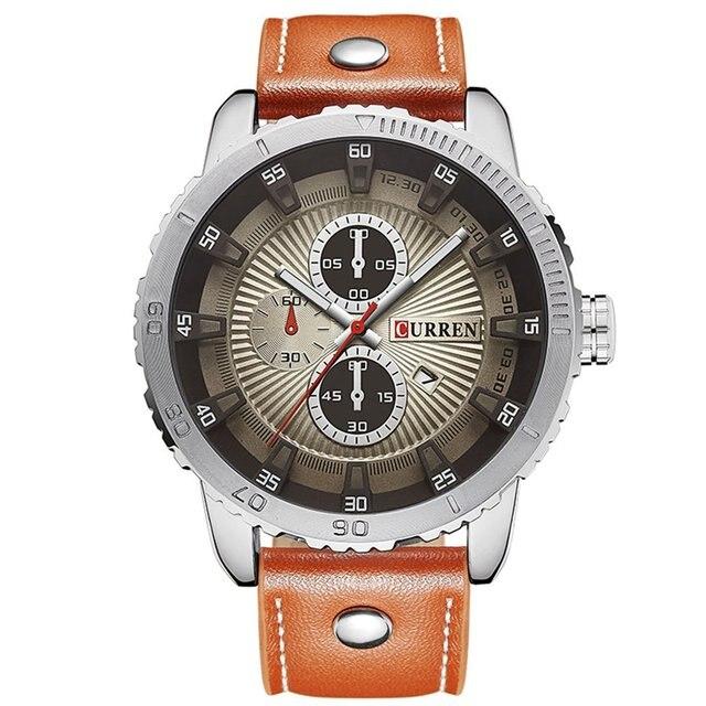 CURREN 8206 Top Brand Quartz Watch Casual Fashion Leather Business Watches Men S