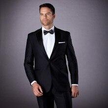 tuxedo for wedding groom wear black custom made suits men bridegroom suit classic formal wear 2017