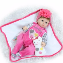 Bebe silicone reborn dolls 16inch 40cm Doll Reborn Baby blue eyes Handmade Cotton Body  realista bonecas juguetes Babies Toys