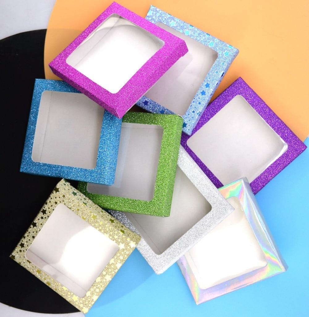 Image 4 - 10set/lot Packing box for eyelash blank eyelashes package Multicolor paper box white tray 25mm Eyelashes DIY Shining packing box-in False Eyelashes from Beauty & Health