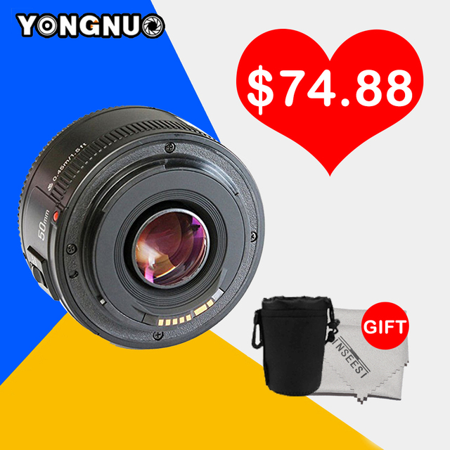 Yongnuo Lens YN50MM F/1.8 Large AF Lens Aperture Auto Focus Lens YN 50mm for Nikon DSLR Camera as AF-S 50mm 1.8G